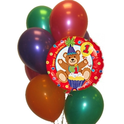 BBN18-singapore 1st birthday balloons