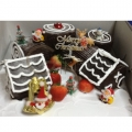 CW0514-frosty christmas village cake