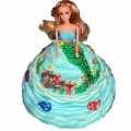 1-GF0023-Mermaid Doll Cake