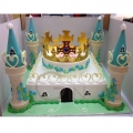 GF0345-royal crown castle birthday cake