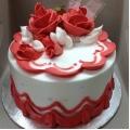GF0357-300gm red rose cake