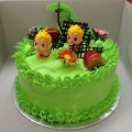 GF0365-green fantasy cake