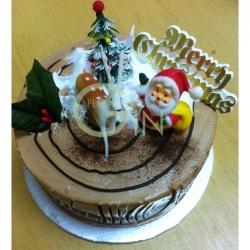 GF001XMAS Min Log Cake