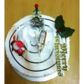 GF003XMAS Min Log Cake
