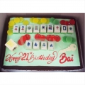Mahjong Table Cake mahjung