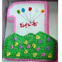 3-OC0236-Kiddies One Birthday Cake