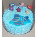 GF0025-Ocean Blue cake