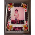 OC1145-Chocolate photo cake