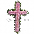 QF0515-funeral flower cross wreath