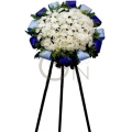 QF0631-White Pom Pom Wreath