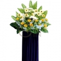 QF0638-Yellow Gerberas and White Gerberas Wreath