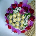 QF1139-ferro rocher Roses Bouquet