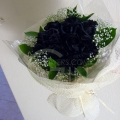 QF1141-Black Rose Bouquet