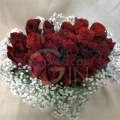 QF1148V-Roses Heart Shaped Table Arrangement