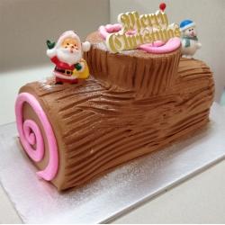 CX0510CX0510-chocolate christmas log cake