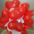 BB0026-Red Hearts Balloons
