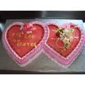 OC0006-Double Heart Anniversary Cake